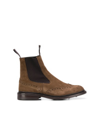 Bottines chelsea en daim marron foncé Trickers