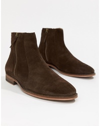 Bottines chelsea en daim marron foncé WALK LONDON