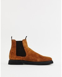 Bottines chelsea en daim marron ASOS DESIGN