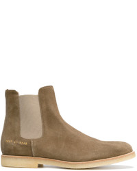 Bottines chelsea en daim marron Common Projects