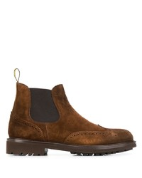 Bottines chelsea en daim marron Doucal's
