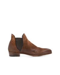 Bottines chelsea en daim marron Lidfort