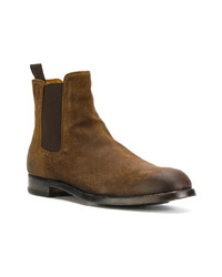 Bottines chelsea en daim marron Officine Creative