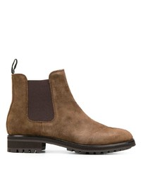 Bottines chelsea en daim marron Polo Ralph Lauren