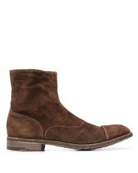 Bottines chelsea en daim marron Premiata