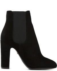 Bottines chelsea en daim noires Dolce & Gabbana
