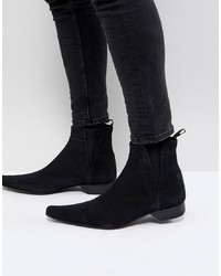 Bottines chelsea en daim noires Jeffery West