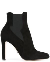 Bottines chelsea en daim noires Paul Andrew