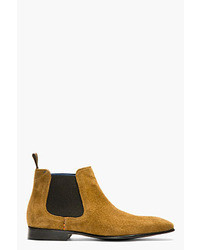 Bottines chelsea en daim tabac Paul Smith