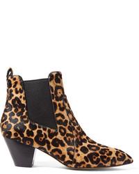 Bottines chelsea imprimées léopard noires Marc Jacobs