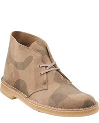 Bottines chukka en cuir beiges