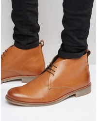 Bottines chukka en cuir marron clair