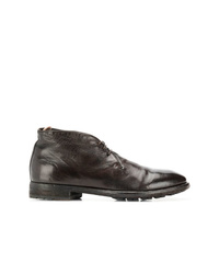 Bottines chukka en cuir marron foncé Officine Creative