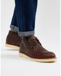Bottines chukka en cuir marron foncé Red Wing