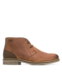 Bottines chukka en cuir marron Barbour