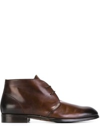 Bottines chukka en cuir marron Doucal's