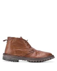 Bottines chukka en cuir marron Moma