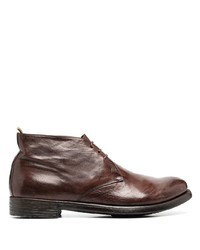 Bottines chukka en cuir marron Officine Creative