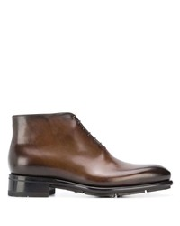 Bottines chukka en cuir marron Santoni