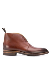 Bottines chukka en cuir marron Scarosso