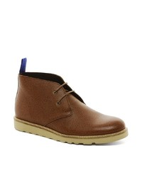 Bottines chukka en cuir marron Selected