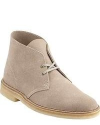 Bottines chukka en daim beiges
