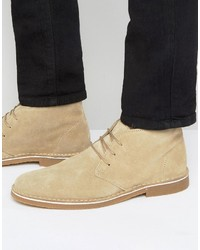 Bottines chukka en daim beiges Selected