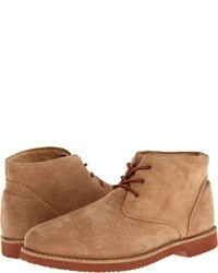 Bottines chukka en daim marron clair