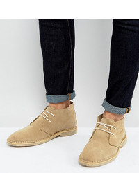 Bottines chukka en daim marron clair ASOS DESIGN