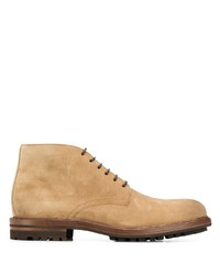 Bottines chukka en daim marron clair Brunello Cucinelli