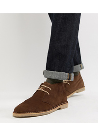 Bottines chukka en daim marron foncé ASOS DESIGN