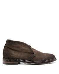 Bottines chukka en daim marron foncé Officine Creative