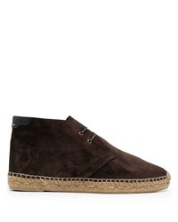 Bottines chukka en daim marron foncé Saint Laurent