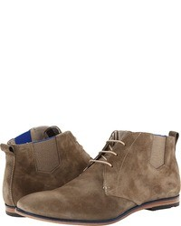 Bottines chukka en daim marron