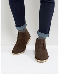 Bottines chukka en daim marron ASOS DESIGN