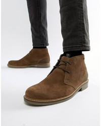 Bottines chukka en daim marron Barbour