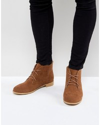 Bottines chukka en daim marron Brave Soul