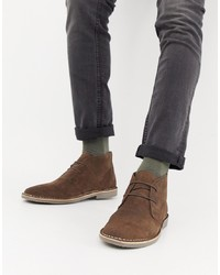 Bottines chukka en daim marron Burton Menswear