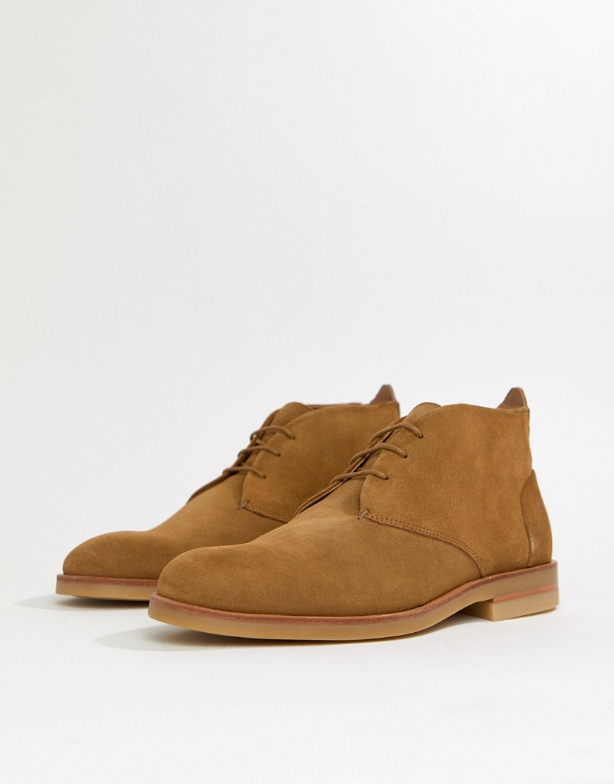 Bottines chukka en daim marron H By Hudson