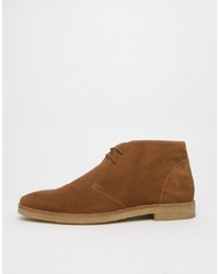 Bottines chukka en daim marron WALK LONDON
