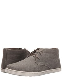 Bottines chukka en toile grises
