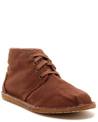 Bottines chukka en toile marron