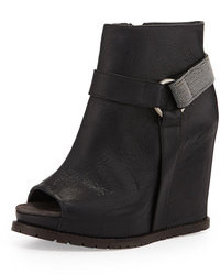 Bottines compensees en cuir original 9445201