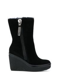 Bottines compensées en daim noires Calvin Klein Jeans