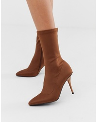 Bottines élastiques marron Missguided