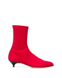 Bottines élastiques rouges Gia Couture