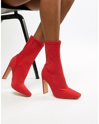 Bottines élastiques rouges Missguided