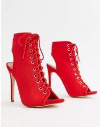 Bottines élastiques rouges New Look