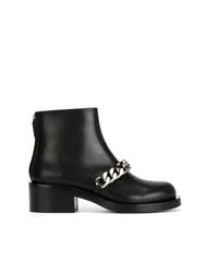 Bottines en cuir à clous noires Givenchy