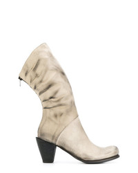 Bottines en cuir beiges Lost & Found Ria Dunn